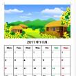 10月のカレンダーを作りました。