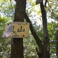 まち歩き西0965 嵐山 山頂382m  嵐山城址
