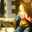 ウフツィ美術館の聖母比べ上 「自分の妻」のリッピ、「いやいや」のシモーネ、「長すぎる右手」のレオナルド。
