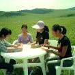 モンゴルの大草原で日本語を教える