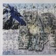 ユキヒョウ親子のジグソーパズル