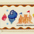 Cardごのみ514~紺色アレンジ&砂浜の城