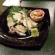 笹かまと一緒に寿司三昧 夫の日本訪問2