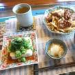ランニング後のお昼ご飯はラムモモ肉ピリ辛味噌炒め