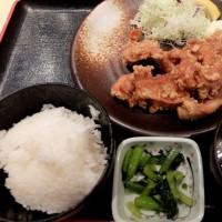 <gourmet>テング酒場 鶏の唐揚げセット+ラーメン
