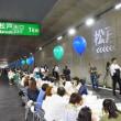 開通前夜、トンネルの中でカンパイ 東京外環道三郷南IC~高谷JCT開通で