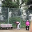 猛暑のテニス