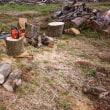 薪作り会・・・