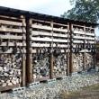 師走の薪棚
