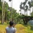 岐阜県立森林文化アカデミーの生徒さん 北山杉研修。