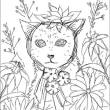 190923猫デジタルイラスト下書き。