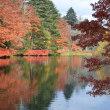 軽井沢雲場池の紅葉