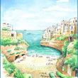 南イタリア・スケッチ・その32・ポリニャーノ・ア・マーレから『アドリア海』