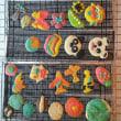 ねんどクッキー2/11  シフォンケーキとクッキーのうさぎとみかん