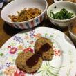 焼きコロッケの夕ご飯