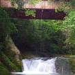 新城市川合亀渕川・旧千歳橋下の滝