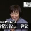日テレ調査:安倍昭恵の証人喚問必要 65.2%