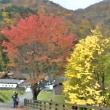 晩秋の曲家風景を水彩画風に・・・