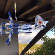 ペットボトルで作った飛行機