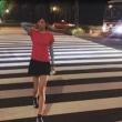 """視線くぎ付け! 9頭身モデル・熊江琉唯、足の長さ際立つ""""皇居ラン""""写真公開"""