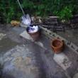 雨が降っての樋の状況