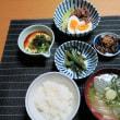 和定食、きんぴらと牛しぐれ煮・・・炊屋食堂の晩ごはん定食、