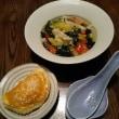 チャイニーズ・モーニング:餃子で五色スープ