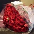 妻の喜寿を 77本のバラで祝う