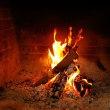 最後の暖炉の炎 Last fireplace flame