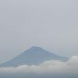 2017/7/23の富士山 隅っこに新幹線