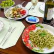 ワインのつまみとジェノバパスタ
