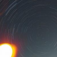 星の光跡写真撮影