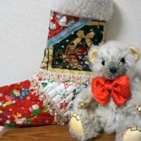 生徒さんの作品 クリスマスベア「グリンチ」