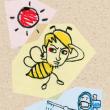 「ミツバチ」遊助(カリカチュア的な似顔絵)