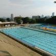 本日は真田山プールが定休日なので神戸の王子スポーツセンタープール(王子プール)へ。こちらのプールは撮影OK。そのため、プールサイドへのスマホの持ち込みOKです。まさしく森のプール。