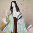 上村松園さんが謡曲『花筐(はながたみ)』を画題にして描いた作品