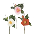 お正月の飾りや髪飾りにお勧め!造花の椿