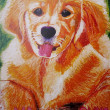 2018 marukoの 犬 ・・・・ 仲田丸子さんの作品 ( クレヨン画 )