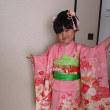 30.11.18 出張着付2件目は堺市南区、3歳女児の帯付けと新日本髪&お母様の色無地着付とヘアセットでした。