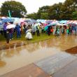 雨の中の市民福祉まつり