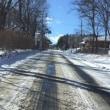緊張の雪道運転