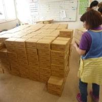 朝からみんなで協力して、納品作業をしました!!