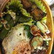 質素なお弁当生活-目玉焼きと空豆丼-