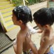 みどり・おれんじ 4・5歳児 プール☆泡遊び