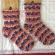 手編み靴下 作品NO.164