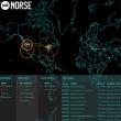 世界中のサイバー攻撃の様子