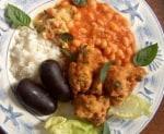 鱈のアクラ アンティル料理