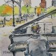 水彩画 piano man