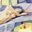 Nude-Muse-angel-Tableau-ヌード-芸術-アート-絵画:秋の夕焼け