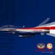 中国のアクロバット飛行隊のJ-10の新し塗装とパッチ